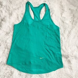 Nike racer back tank green work out